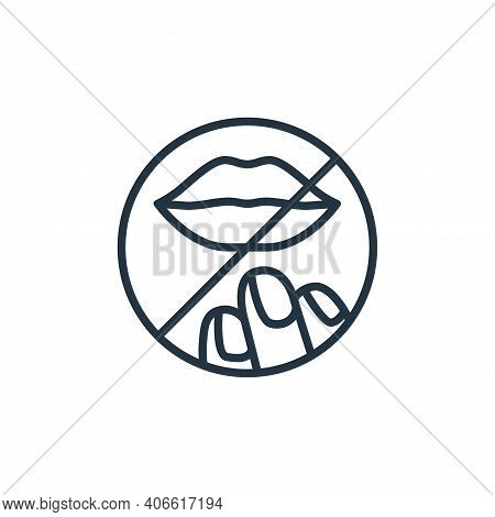 lips icon isolated on white background from stop virus collection. lips icon thin line outline linea