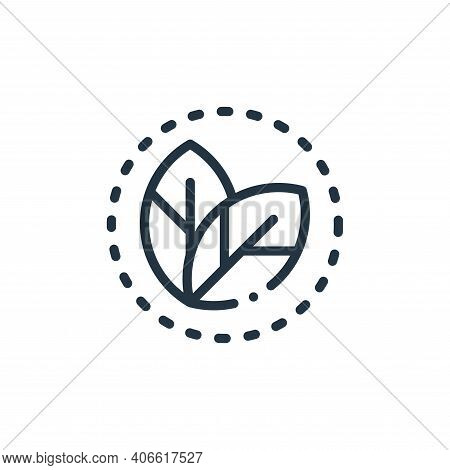 leaf icon isolated on white background from ecology collection. leaf icon thin line outline linear l