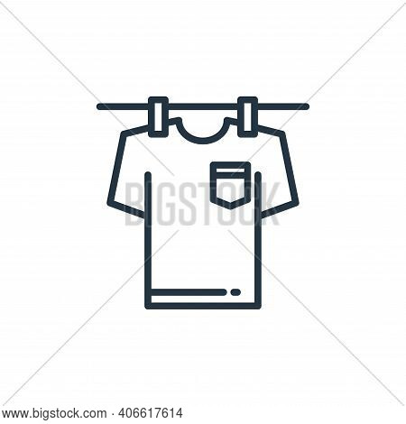 laundry icon isolated on white background from stay at home collection. laundry icon thin line outli