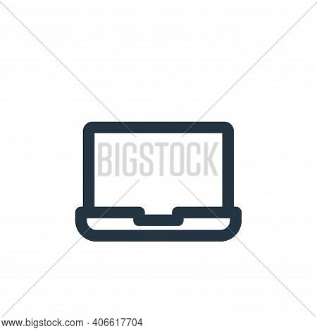 laptop icon isolated on white background from multimedia collection. laptop icon thin line outline l