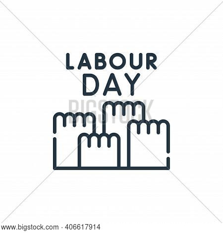 labor day icon isolated on white background from labour day collection. labor day icon thin line out
