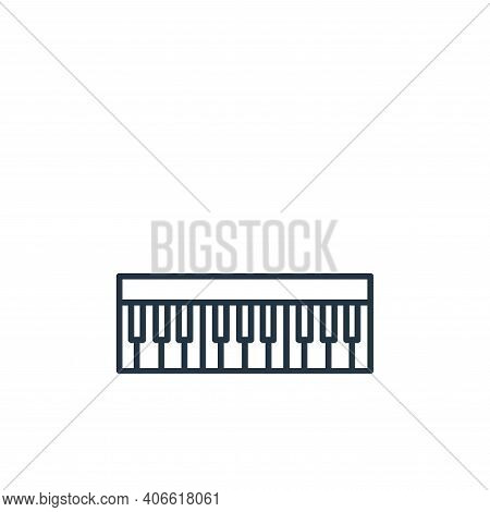 keyboard icon isolated on white background from music instruments collection. keyboard icon thin lin