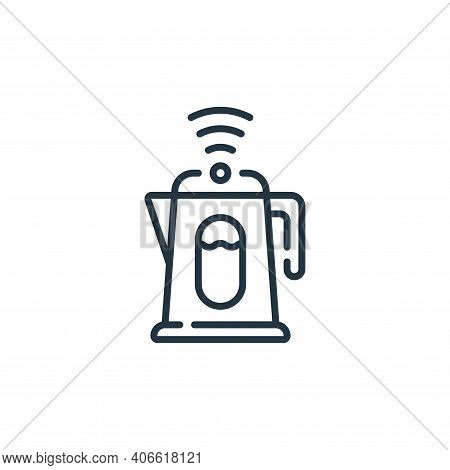 kettle icon isolated on white background from technology of the future collection. kettle icon thin