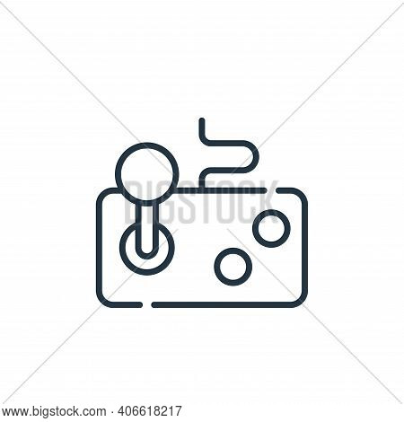 joystick icon isolated on white background from videogame collection. joystick icon thin line outlin
