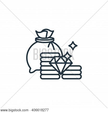 jackpot icon isolated on white background from casino collection. jackpot icon thin line outline lin