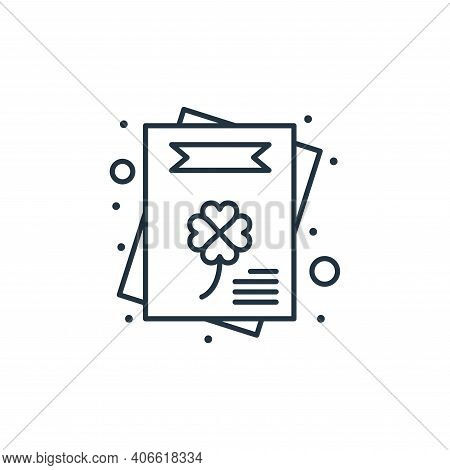 invitation icon isolated on white background from saint patrick collection. invitation icon thin lin