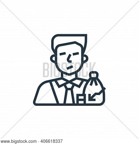investor icon isolated on white background from economic crisis collection. investor icon thin line
