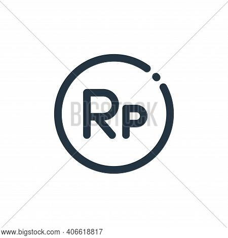 indonesian rupiah icon isolated on white background from currency collection. indonesian rupiah icon
