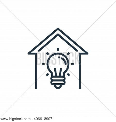 idea icon isolated on white background from work from home collection. idea icon thin line outline l