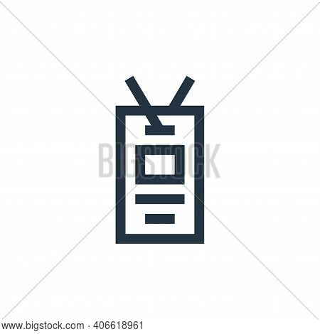 id card icon isolated on white background from feedback and testimonials collection. id card icon th