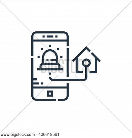 home security icon isolated on white background from smarthome collection. home security icon thin l