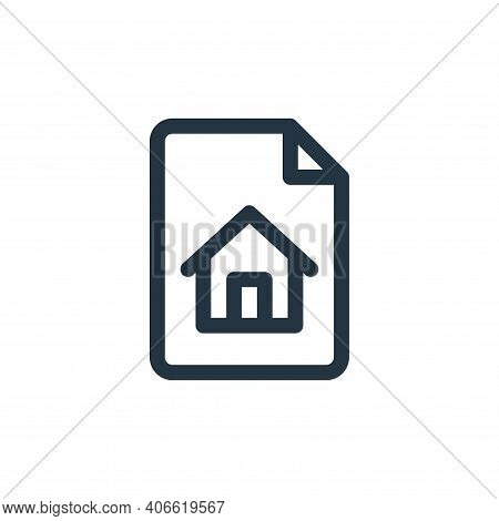homepage icon isolated on white background from document and files collection. homepage icon thin li