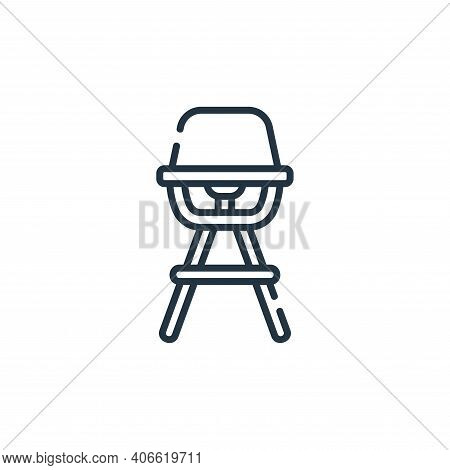 high chair icon isolated on white background from maternity collection. high chair icon thin line ou