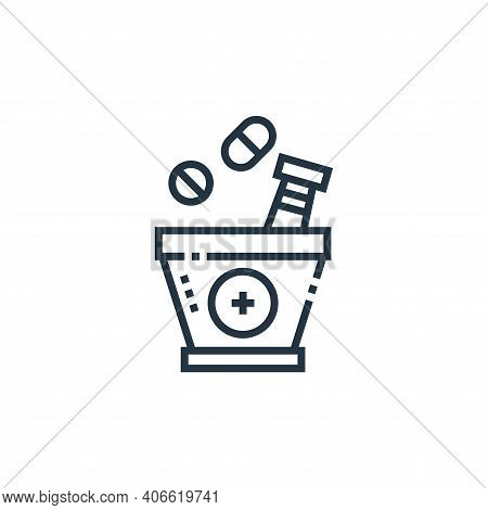 herbal treatment icon isolated on white background from medical services collection. herbal treatmen