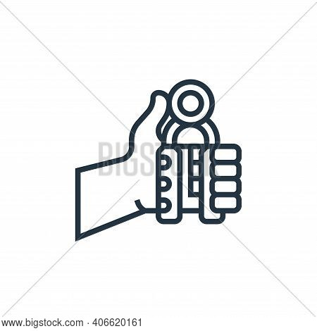 hand grip icon isolated on white background from fitness collection. hand grip icon thin line outlin