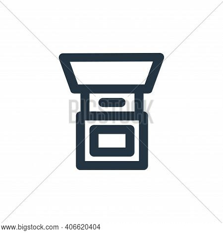 grinder icon isolated on white background from coffee collection. grinder icon thin line outline lin