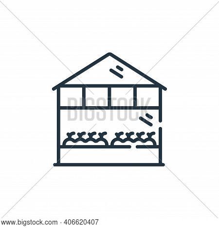 greenhouse icon isolated on white background from smart farm collection. greenhouse icon thin line o