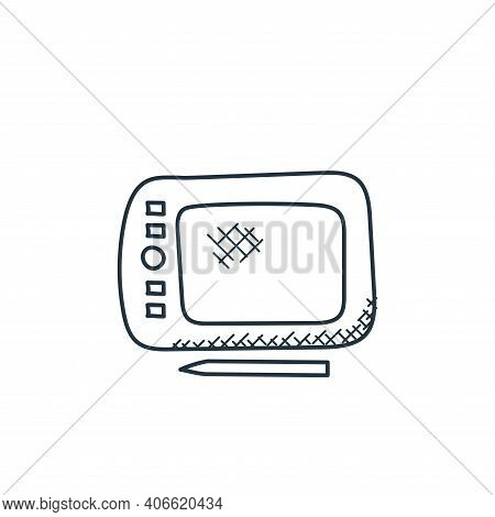 graphic tablet icon isolated on white background from technology collection. graphic tablet icon thi