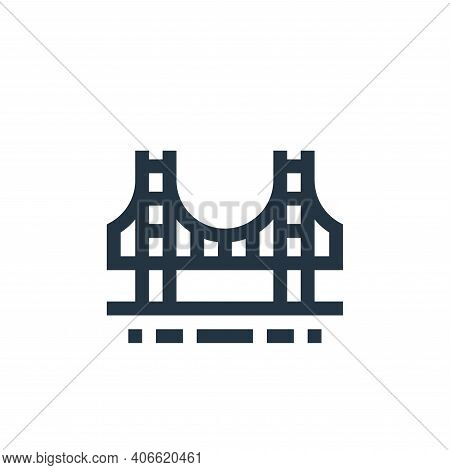 golden gate icon isolated on white background from united states of america collection. golden gate