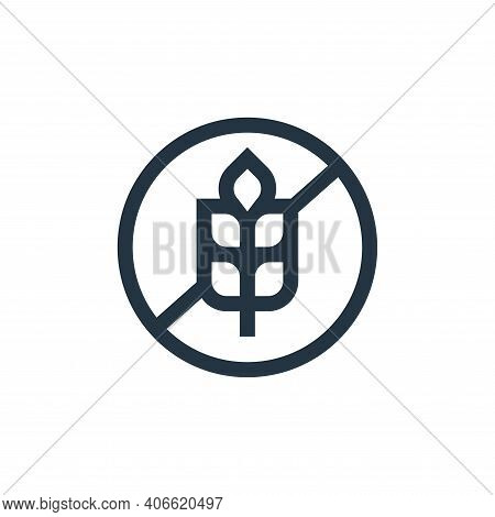gluten free icon isolated on white background from nutrition collection. gluten free icon thin line