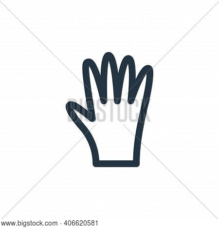 glove icon isolated on white background from labour day collection. glove icon thin line outline lin
