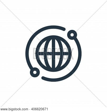 global icon isolated on white background from virtual reality collection. global icon thin line outl