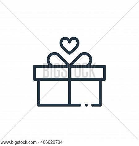 gift icon isolated on white background from world love collection. gift icon thin line outline linea