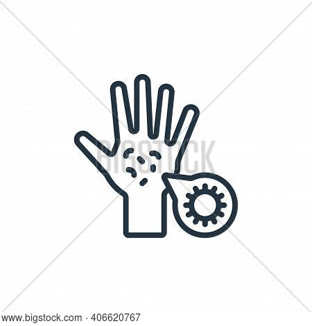 germs icon isolated on white background from hygiene collection. germs icon thin line outline linear
