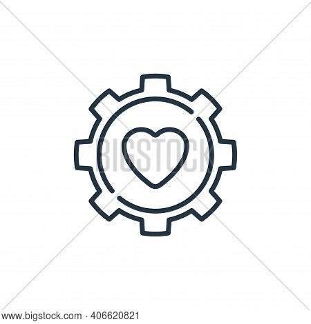 gear icon isolated on white background from life skills collection. gear icon thin line outline line