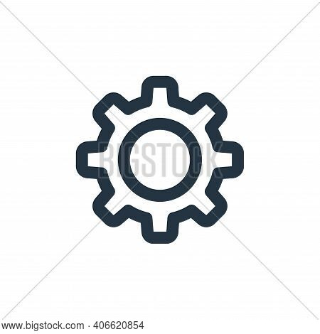 gear icon isolated on white background from labour day collection. gear icon thin line outline linea