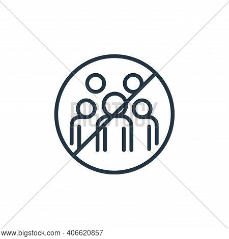 gathering icon isolated on white background from stop virus collection. gathering icon thin line out