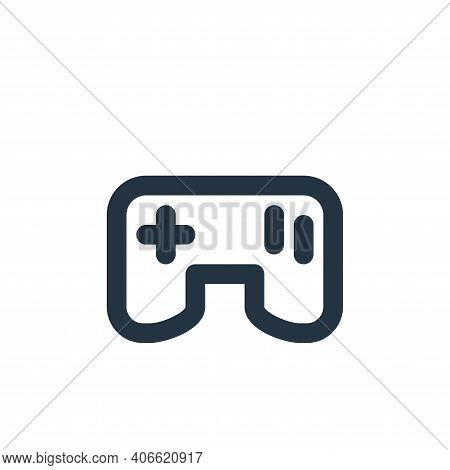 gamepad icon isolated on white background from electronics collection. gamepad icon thin line outlin