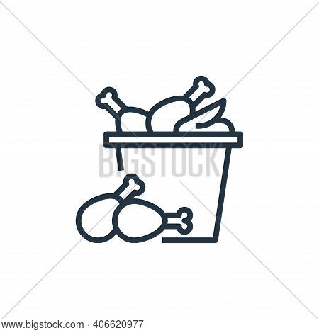 fried chicken icon isolated on white background from food delivery collection. fried chicken icon th