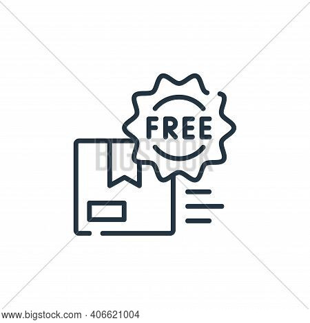 free delivery icon isolated on white background from delivery collection. free delivery icon thin li
