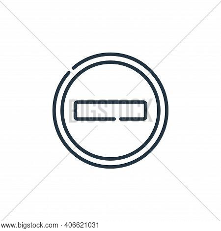 Forbidden Vector Icon From Signals And Prohibitions Collection Isolated On White Background