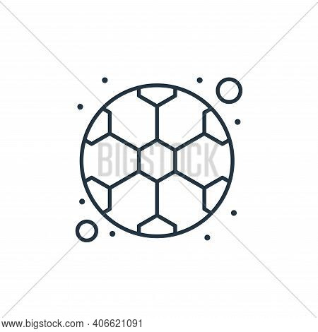 football icon isolated on white background from brazilian carnival collection. football icon thin li