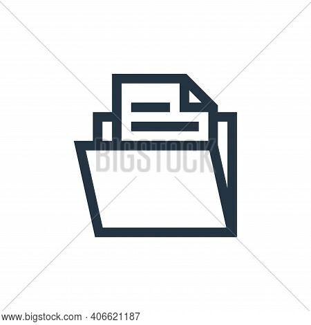 folder icon isolated on white background from management collection. folder icon thin line outline l