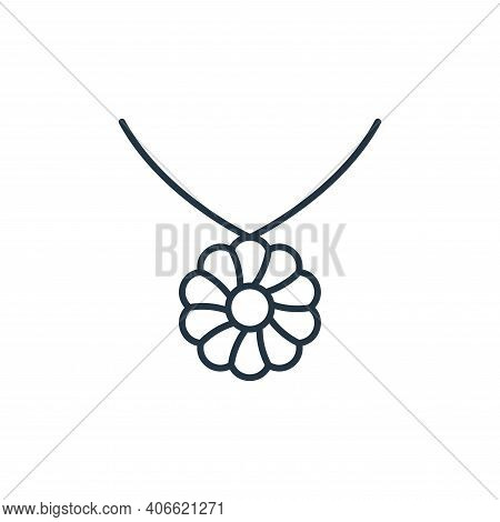 flower necklace icon isolated on white background from accessory collection. flower necklace icon th