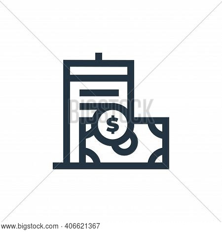 flat icon isolated on white background from real estate collection. flat icon thin line outline line