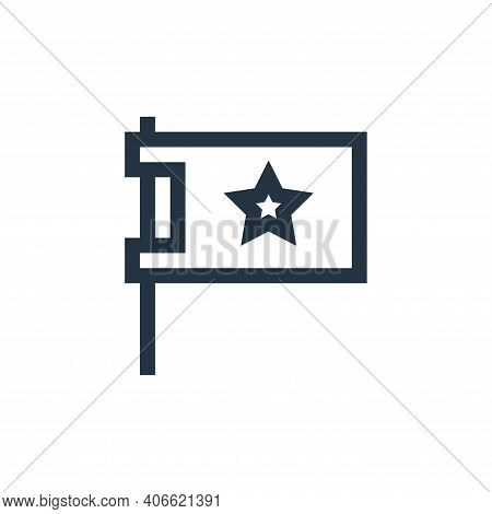 flag icon isolated on white background from feedback and testimonials collection. flag icon thin lin