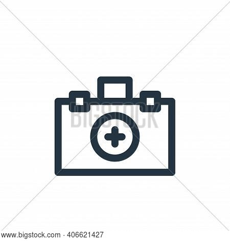 first aid kit icon isolated on white background from medicine collection. first aid kit icon thin li