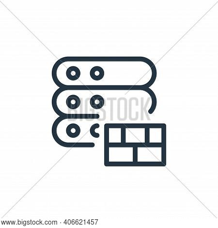 firewall icon isolated on white background from work office server collection. firewall icon thin li