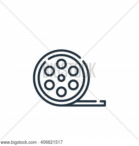 film roll icon isolated on white background from fame collection. film roll icon thin line outline l