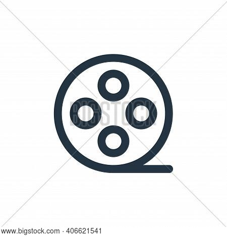 film icon isolated on white background from multimedia collection. film icon thin line outline linea