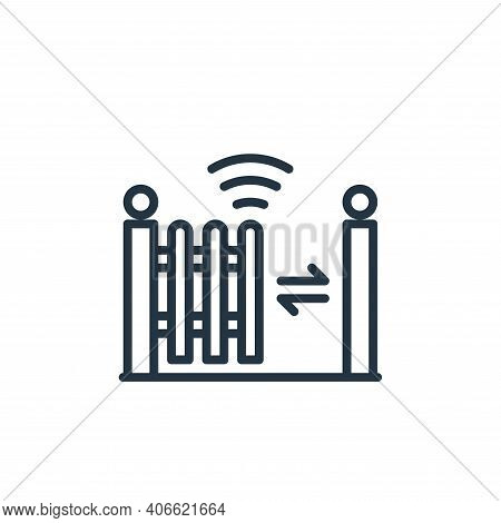 fence icon isolated on white background from internet of things collection. fence icon thin line out