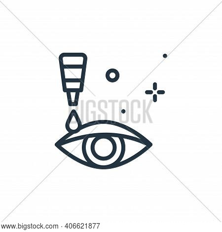 eye drops icon isolated on white background from hygiene collection. eye drops icon thin line outlin