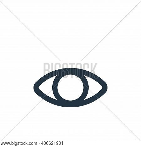 eye icon isolated on white background from interface collection. eye icon thin line outline linear e