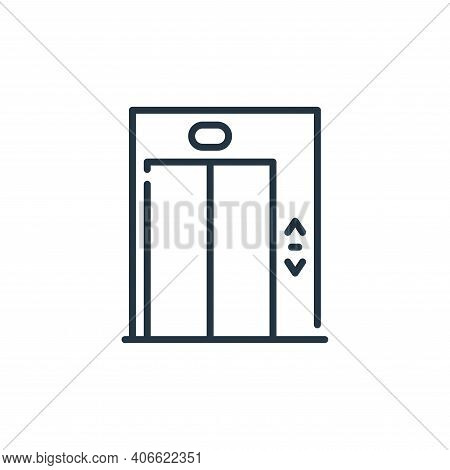 elevator icon isolated on white background from mall collection. elevator icon thin line outline lin