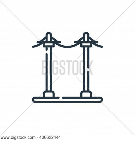 electric pole icon isolated on white background from electrician tools and elements collection. elec
