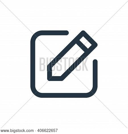 edit icon isolated on white background from user interface collection. edit icon thin line outline l
